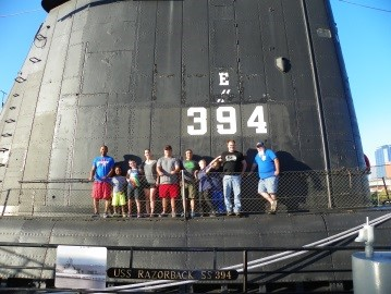Cub Scout Pack 408 tour of USS Razorback